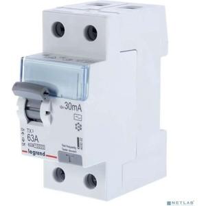Выключатель дифференциального тока (УЗО) Legrand 2п 63А 30мА тип AC TX3 (403002)