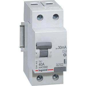 Выключатель дифференциального тока (УЗО) Legrand 2п 40А 30мА тип AC TX3 (403001)
