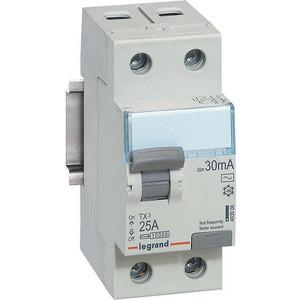 Выключатель дифференциального тока (УЗО) Legrand 2п 25А 30мА тип AC TX3 (403000)