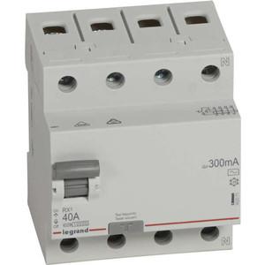 Выключатель дифференциального тока (УЗО) Legrand 4п 40А 300мА тип AC RX3 (402071)