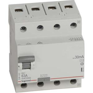 Выключатель дифференциального тока (УЗО) Legrand 4п 63А 30мА тип AC RX3 Leg 402064