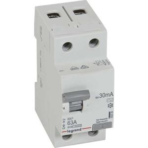 Выключатель дифференциального тока (УЗО) Legrand 2п 63А 30мА тип AC RX3 (402026)