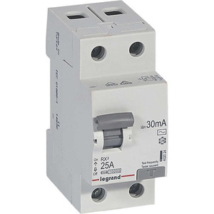 Выключатель дифференциального тока (УЗО) Legrand 2п 25А 30мА тип AC RX3 (402024)