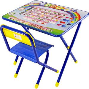Набор мебели Дэми №1 (стол+стул) Алфавит, (син)