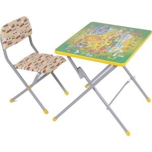 Набор мебели Фея досуг №201 Алфавит зеленый, (стол+стул)