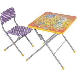 Набор мебели Фея досуг №201 Алфавит оранжевый, (стол+стул)