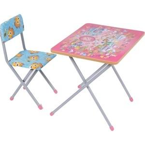 Набор мебели Фея досуг №201 Алфавит розовый, (стол+стул)