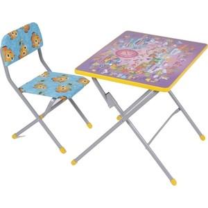 Набор мебели Фея досуг №201 Алфавит сиреневый, (стол+стул)