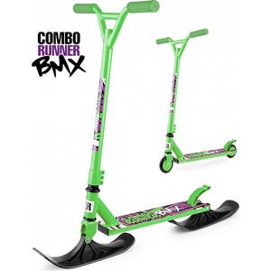 Самокат-снегокат Small Rider с лыжами и колесами Combo Runner BMX (зеленый) (1642205)