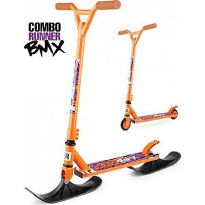 Самокат-снегокат Small Rider с лыжами и колесами Combo Runner BMX (оранжевый) (1642206) самокат bmx