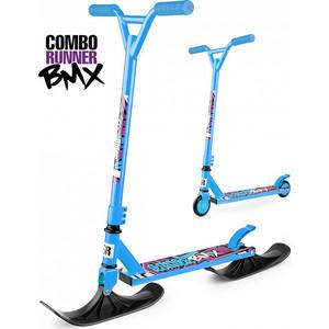 Самокат-снегокат Small Rider с лыжами и колесами Combo Runner BMX (синий) (1642209) hummingbird ранец bmx rider