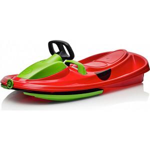 Санки-снегокат Gismo Riders с рулем и тормозом (красно-зеленый) (1636906)