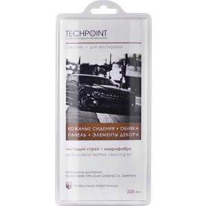 Чистящий набор Techpoint для ухода за кожаной поверхностью автомобиля, спрей 220 мл+микрофибра