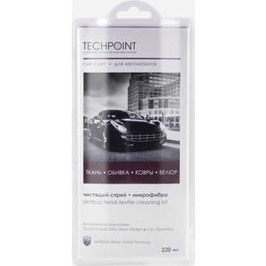 Чистящий набор Techpoint для ухода за текстильной обивкой автомобиля, спрей 220 мл+микрофибра