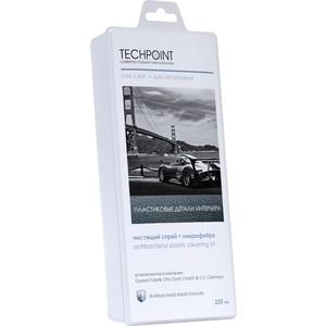 Чистящий набор Techpoint для ухода за пластиковыми поверхностями автомобиля, спрей 220 мл+микрофибра