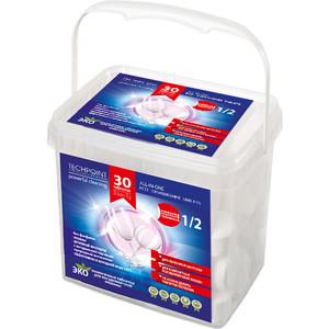 Таблетки для посудомоечной машины (ПММ) Techpoint All-in-1, бесфосфатные половинной загрузки, 30 шт