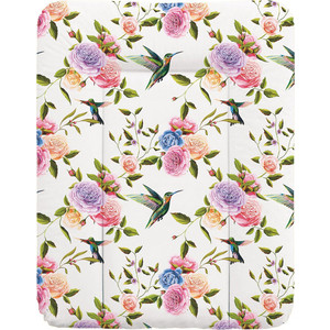 Пеленальный матрас Ceba Baby 70x50 см Flora Fauna мягкий на комод W-143(Flores W-143-099-546) (123756) bridal flower headband garland artificial wedding bouquets fabric flowers hair accessories flores decorations casamento wigo0814
