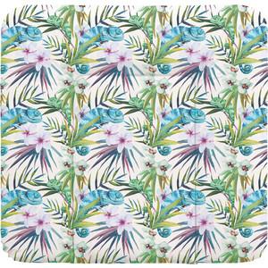 Пеленальный матрас Ceba Baby 70x75 см Flora Fauna мягкий на комод W-144(Camaleon Blanco W-144-099-542) (123773)