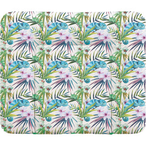 Пеленальный матрас Ceba Baby 70x85 см Flora Fauna мягкий на комод W-134(Camaleon Blanco W-134-099-542) (123781)