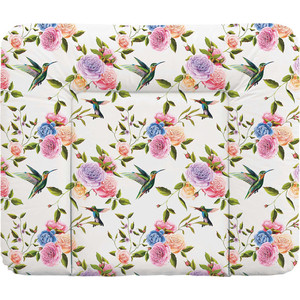Пеленальный матрас Ceba Baby 70x85 см Flora Fauna мягкий на комод W-134(Flores W-134-099-546) (123777) bridal flower headband garland artificial wedding bouquets fabric flowers hair accessories flores decorations casamento wigo0814