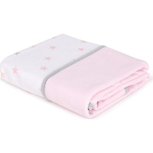 Плед Ceba Baby 90х100 см (Medium Stars Pink W-817-083-081-1) (123827) одеяло конверт ceba baby magic tree pink принт w 810 072 130 э0000016392