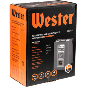 Стабилизатор напряжения Wester STW3000NS wester wh8