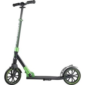Самокат 2-х колесный Tech Team 230 Sport (2019) черно-зеленый самокат 2 х колесный amigo torino sport фиолетовый