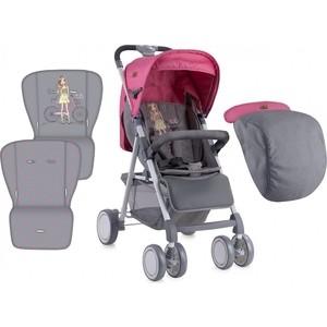 Коляска прогулочная Lorelli Aero с накидкой на ножки / Розово-серый / Rose&Grey Girl 1740 (10020701740) коляска трансформер lorelli arizona розово серый rose