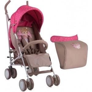 Коляска трость Lorelli Fiesta с накидкой на ножки / Бежево-розовый Biege&Pink Girl 1834 (10020731834)