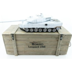 Радиоуправляемый танк Taigen Leopard 2 A6 (для ИК танкового боя) UN RTR масштаб 1:16 2.4G - TG3889-1B-UN-IR taigen kv 1 hc металл 2 4ghz ик