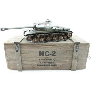 Радиоуправляемый танк Taigen ИС-2 модель 1944, СССР, зеленый, (для ИК танкового боя), деревянная коробка RTR масштаб 1:16 2.4G - TG3928-1G-IR-BOX taigen kv 1 hc металл 2 4ghz ик