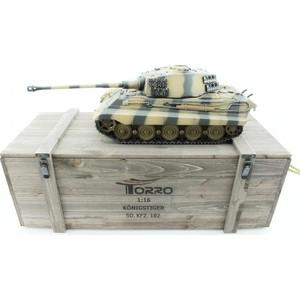 Радиоуправляемый танк Torro King Tiger (башня Henschel) ВВ-пушка, деревянная коробка RTR масштаб 1:16 2.4G - TR1112200600 все цены