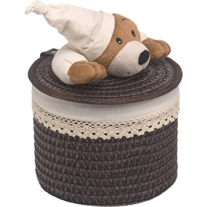 Корзина бельевая Handy Home Медвежонок, Д200 Ш200 В160, коричневый шкатулка magic home медвежонок йог 76649