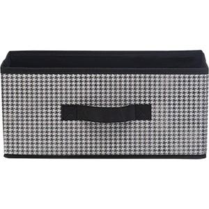 Короб для хранения Handy Home Пепита, Д328 Ш152 В150, черно-белый