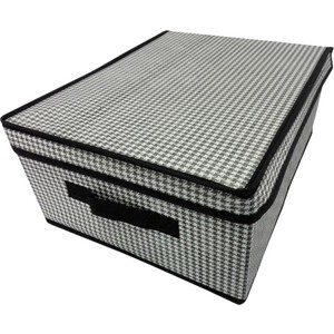 Короб для хранения Handy Home Пепита, Д400 Ш300 В160, черно-белый