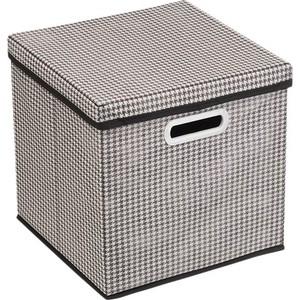 Короб для хранения Handy Home Пепита, Д270 Ш270 В270, черно-белый