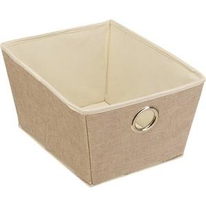 чехол для одежды handy home лен uc 25 60х100 см Короб для хранения Handy Home Лен Д330 Ш250 В180, песочный