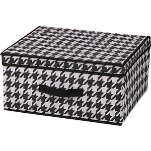 Короб для хранения Handy Home Пепита, Д420 Ш320 В200, черно-белый