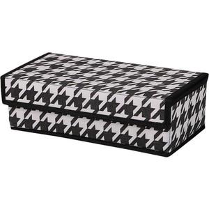 Короб Handy Home органайзер Пепита 8 секций, Д320 Ш160 В100, черно-белый