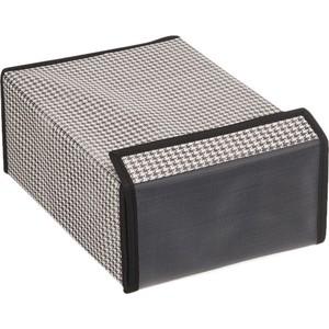 Короб для хранения Handy Home Пепита, Д310 Ш220 В120, черно-белый