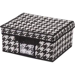 Короб для хранения Handy Home Пепита, Д400 Ш330 В180, черно-белый