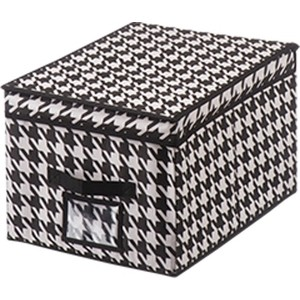 Короб для хранения Handy Home Пепита, Д400 Ш300 В250, черно-белый