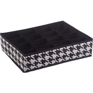 Короб Handy Home органайзер ''Пепита'' 16 секций, Д350 Ш270 В90, черно-белый органайзер