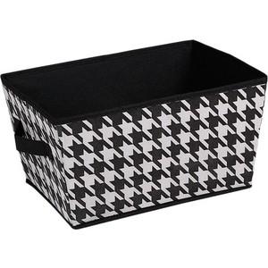 Короб для хранения Handy Home Пепита, Д340 Ш250 В190, черно-белый