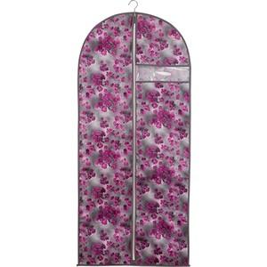 чехол для одежды handy home лен uc 25 60х100 см Чехол для одежды Handy Home Роза, Д1350 Ш600, розово-серый