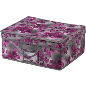 Короб для хранения Handy Home Роза, Д400 Ш330 В180, розово-серый