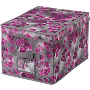Короб для хранения Handy Home Роза, Д400 Ш300 В250, розово-серый