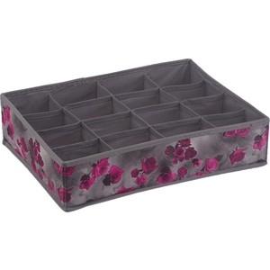 Короб Handy Home органайзер Роза 16 секций, Д350 Ш270 В90, розово-серый жен комплект арт 16 0262 розово серый р 50