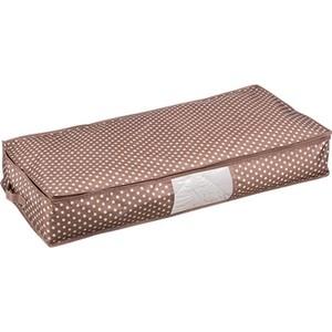 Кофр Handy Home для хранения Полька, Д900 Ш450 В150, коричневый