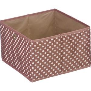 Короб для хранения Handy Home Полька, Д280 Ш280 В180, коричневый